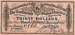 Confederate States of America, 30 Dollar,