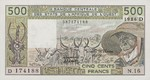 West African States, 500 Franc, P-0405Df