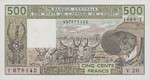 West African States, 500 Franc, P-0806Tk