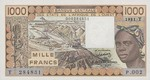 West African States, 1,000 Franc, P-0807Tb