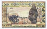 West African States, 500 Franc, P-0302Cn