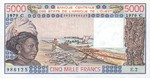 West African States, 5,000 Franc, P-0308Cb