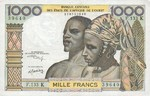 West African States, 1,000 Franc, P-0703Kl