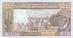 West African States, 500 Franc, P-0805T