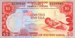 Western Samoa, 5 Tala, P-0021