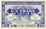 Algeria, 1 Franc, P-0098a B