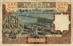 French Somaliland, 5,000 Franc, P-0029