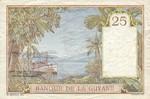 French Guiana, 25 Franc, P-0007