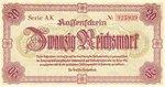 Germany, 20 Reichsmark, P-0187 AK