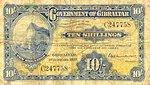 Gibraltar, 10 Shilling, P-0014a