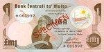 Malta, 1 Lira, CS-0001