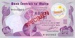 Malta, 5 Lira, CS-0001