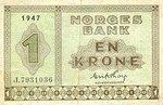 Norway, 1 Krone, P-0015b