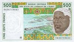 West African States, 500 Franc, P-0610Hd