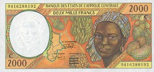 Central African States, 2,000 Franc, P103Cb