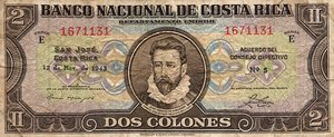 Costa Rica, 2 Colon, P201a
