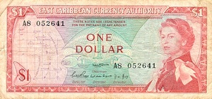 East Caribbean States, 1 Dollar, P13a Sign.1