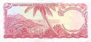 East Caribbean States, 1 Dollar, P13c Sign.4