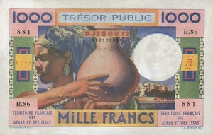 French Afars and Issas, 1,000 Franc, P32