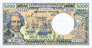 French Pacific Territories, 5,000 Franc, P3a