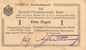 German East Africa, 1 Rupee, P9Ab T