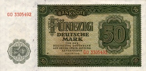 Germany - Democratic Republic, 50 Deutsche Mark, P14b PN60