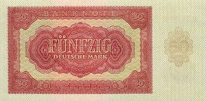 Germany - Democratic Republic, 50 Deutsche Mark, P20a