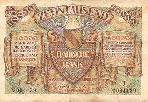 German States, 10,000 Mark, S910