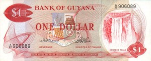 Guyana, 1 Dollar, P21a Sign.2