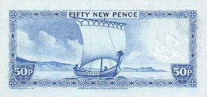 Isle of Man, 50 New Pence, P28a