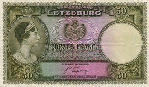 Luxembourg, 50 Franc, P46a