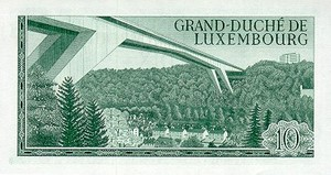 Luxembourg, 10 Franc, P53a