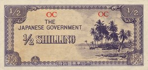 Oceania, 1/2 Shilling, P1a