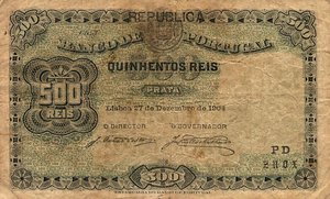 Portugal, 500 Real, P105a Sign.1