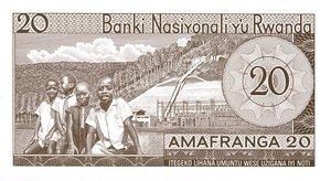 Rwanda, 20 Franc, P6a