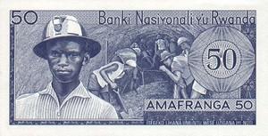 Rwanda, 50 Franc, P7a