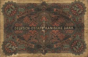 German East Africa, 50 Rupee, P3a
