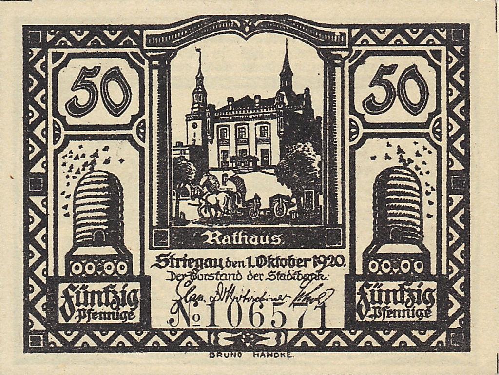 Banknote Index - Striegau Stadtische Sparkasse S6