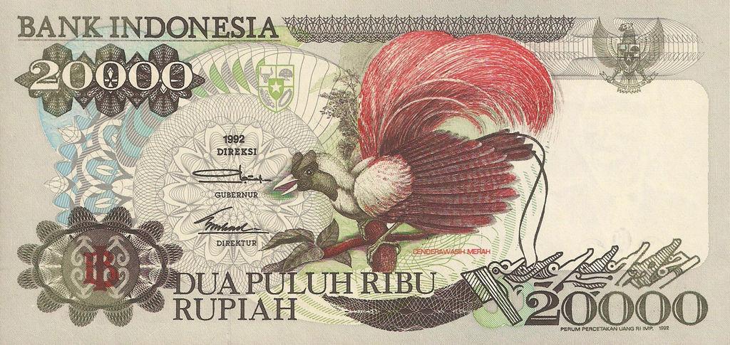 Banknote Index - Indonesia 20000 Rupiah: P132a