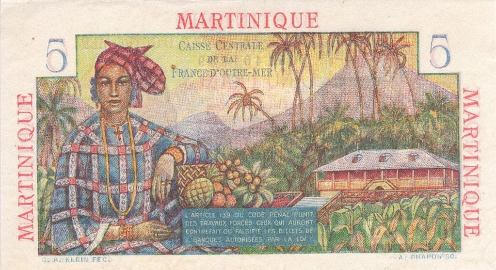 P27a Martinique 5 Franc