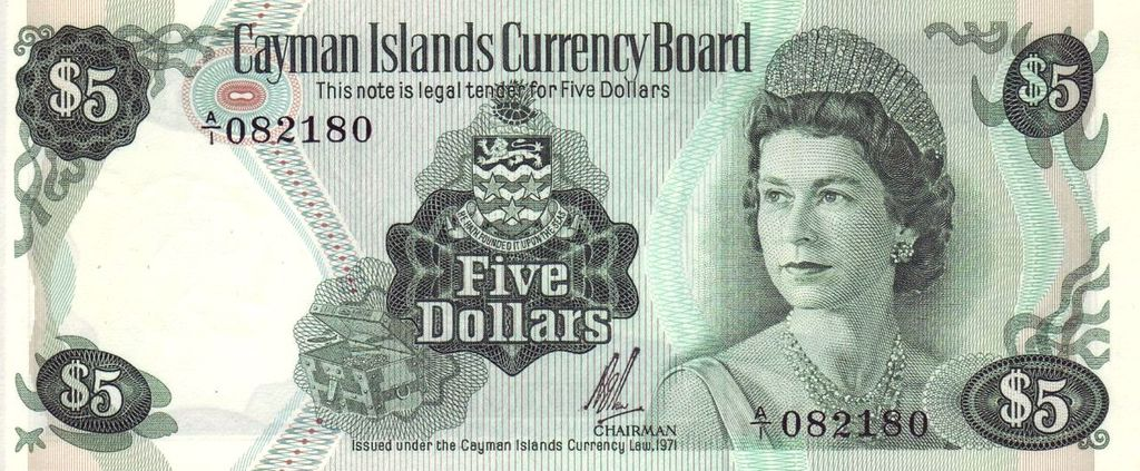 Cayman Islands 5 Dollar