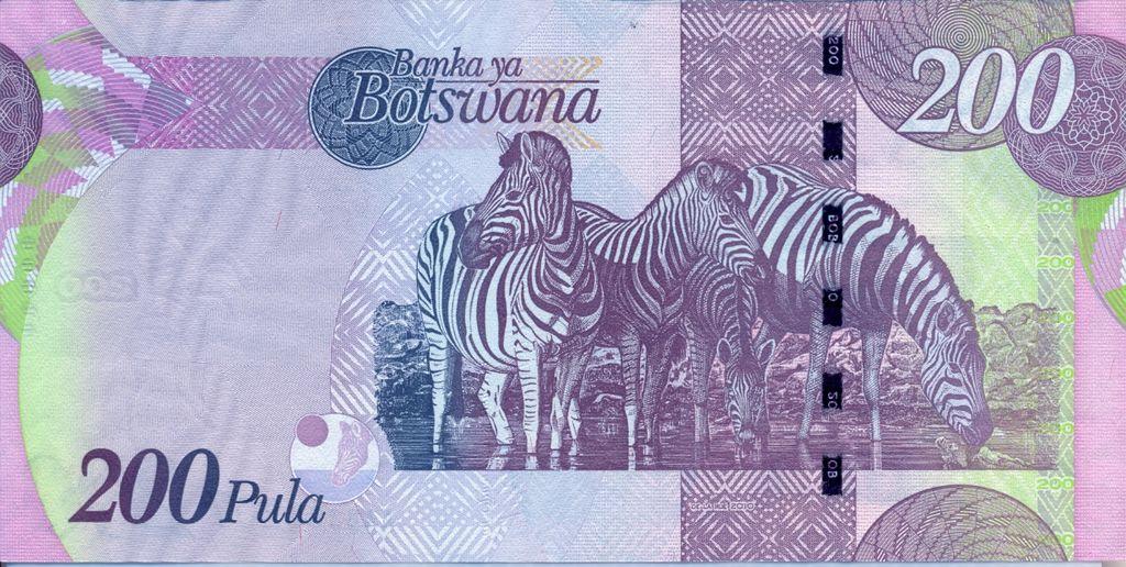 Banknote Index - Botswana 200 Pula: P34 Sign 2