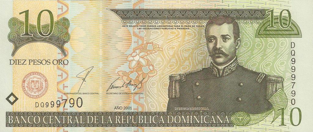 Dominican Republic 10 Peso Oro