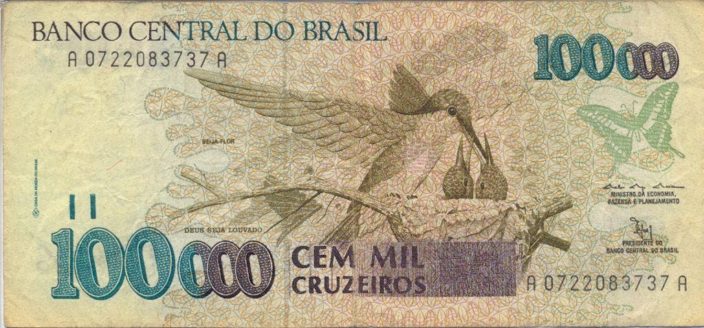 Brazil 100 000 Cruzeiro