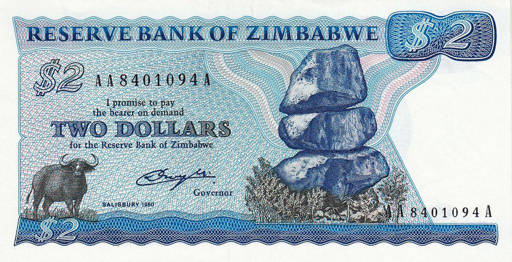 Zimbabwe 2 Dollar