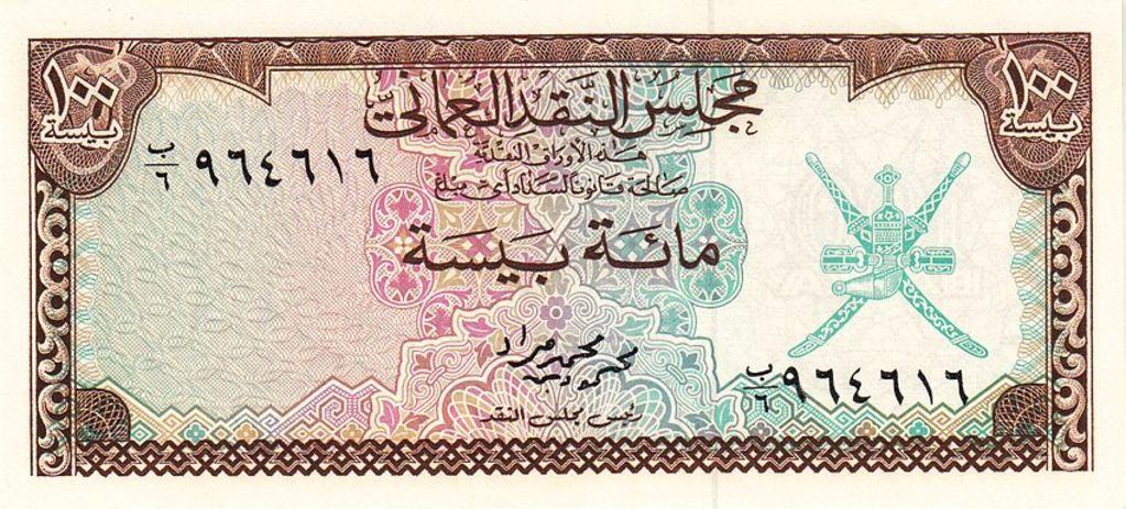 Banknote Index Oman Currency Board