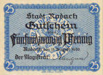 Germany, 25 Pfennig, R33.2a