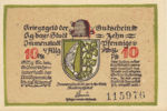 Germany, 10 Pfennig, I4.5a