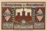Germany, 1 Mark, 744.3b