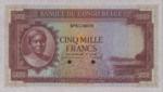 Belgian Congo, 5,000 Franc, P-0019Act